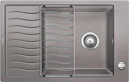 Кухонная мойка оборачиваемая с крылом, с клапаном-автоматом, гранит, алюметаллик Blanco Elon XL 6 S 518737