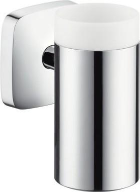 Стаканчик для зубных щёток керамический с настенным держателем Hansgrohe PuraVida 41504000