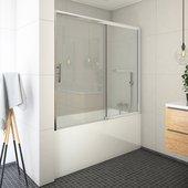 Шторка на ванну Roth Proxima PXV2, 170см, дверь слева, прозрачное стекло, хром 451-170000L-00-02