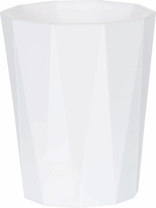 Стакан пластиковый белый Spirella CRYSTAL 1018125