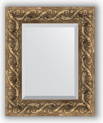 Зеркало 46x56см с фацетом 30мм в багетной раме фреска Evoform BY 1371
