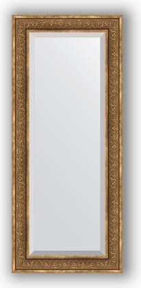 Зеркало с фацетом в багетной раме 64x149см вензель бронзовый 101мм Evoform BY 3552