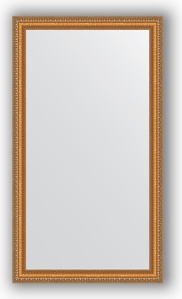Зеркало в багетной раме 65x115см золотые бусы на бронзе 60мм Evoform BY 3202