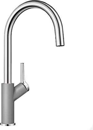 Смеситель кухонный однорычажный с высоким изливом, алюметаллик Blanco CARENA 520973