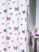 Штора для ванны 180x200см текстильная сиреневая Spirella FLY 1013539