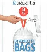 Пакет для мусора 5л пластиковый, размер B, 60шт Brabantia 348969