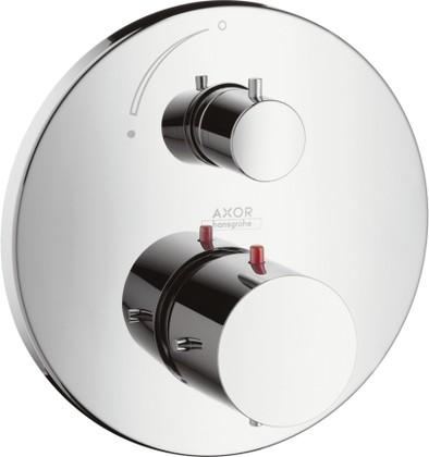 Термостат для душа с запорным вентилем встраиваемый без встраиваемого механизма и без подключения шланга, хром Hansgrohe AXOR Starck 10700000