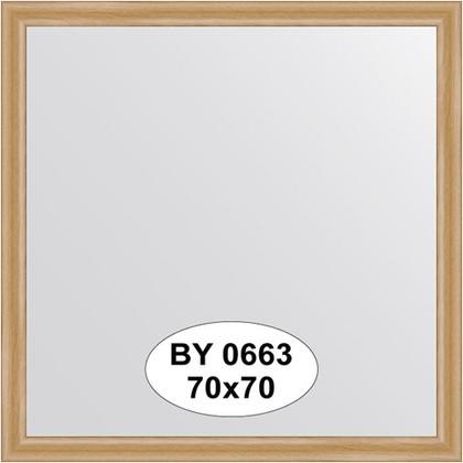 Зеркало 70x70см в багетной раме клён Evoform BY 0663