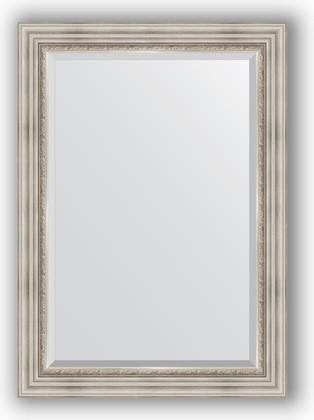 Зеркало 76x106см с фацетом 30мм в багетной раме римское серебро Evoform BY 1297