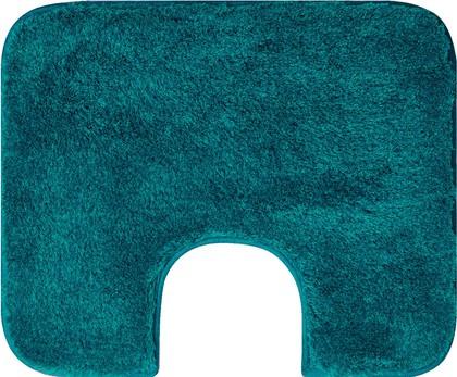 Коврик с вырезом под туалет 50x60см бирюзовый Grund Melo 2559.06.4126