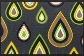 Коврик придверный 66х100см, зеленые капли Golze Pretty Drips 1700-68-005-030