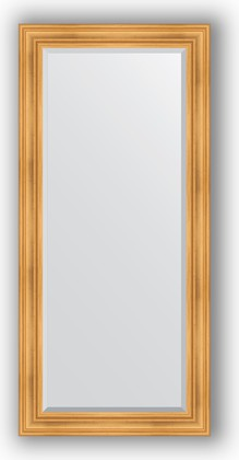Зеркало с фацетом в багетной раме 79x169см травленое золото 99мм Evoform BY 3600