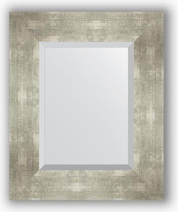 Зеркало 46x56см с фацетом 30мм в багетной раме алюминий Evoform BY 1362
