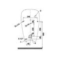 Писсуар с радарным датчиком автоматического смывания Jika Golem 430700004831
