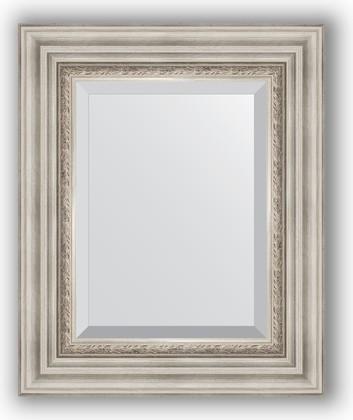 Зеркало 46x56см с фацетом 30мм в багетной раме римское серебро Evoform BY 1369