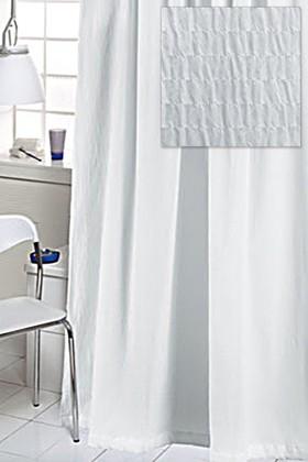 Штора для ванны Grund Crisp 180x200см жатая, с кольцами 12шт, белая 418.98.032