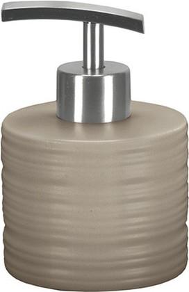 Ёмкость для жидкого мыла низкая керамическая песочная Kleine Wolke Sahara 5046133849