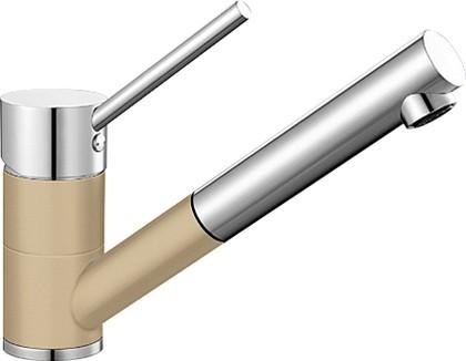 Компактный кухонный смеситель с выдвижным изливом, хром / шампань Blanco ANTAS-S 515352