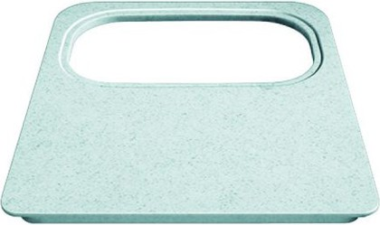 Разделочная доска из серого под мрамор пластика с вырезом под коландер 405x370мм Blanco 218796