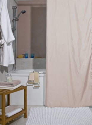 Штора для ванной комнаты 180x200см текстильная светло-бежевая Spirella ATLAS 4005706
