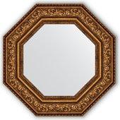 Зеркало Evoform Octagon 606x606 в багетной раме 109мм, виньетка состаренная бронза BY 3856