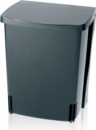 Ведро для мусора квадратное встраиваемое 10л чёрное Brabantia 395246
