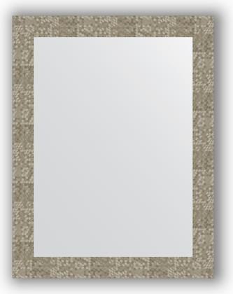 Зеркало в багетной раме 66x86см соты титан 70мм Evoform BY 3180
