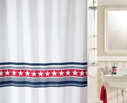 Штора для ванной комнаты 180x200см текстильная Spirella WAINSCOTT 1017481