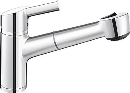 Классический кухонный однорычажный смеситель с выдвижным изливом, хром Blanco ELIPSO-S II 514847