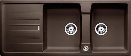Кухонная мойка оборачиваемая с крылом, с клапаном-автоматом, гранит, кофе Blanco Lexa 8 S 515064