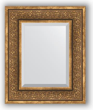 Зеркало с фацетом в багетной раме 49x59см вензель бронзовый 101мм Evoform BY 3370