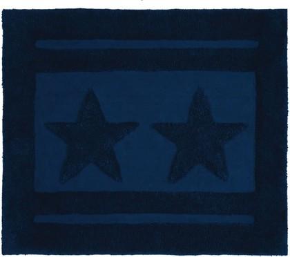 Коврик для ванной комнаты хлопковый 55x65см синий Spirella Emily Star 1017655