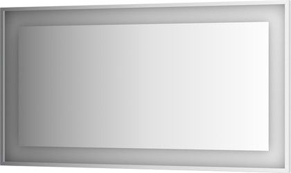 Зеркало 140х75 в багетной раме со встроенным LED-светильником Evoform BY 2209