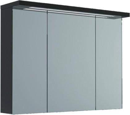 Шкаф зеркальный подвесной со светильником, 3 двери 90x23x73см Verona Viva VA604