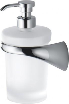 Дозатор жидкого мыла настенный стеклянный с держателем сатин Colombo LINK B9310.SX.SAT