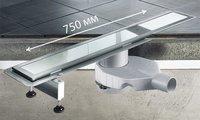 Душевой лоток 750мм из нержавеющей стали Viega Advantix Basic 655082