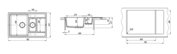 Кухонная мойка Florentina Липси, 780x510мм, две чаши, песочный 20.250.D0780.107