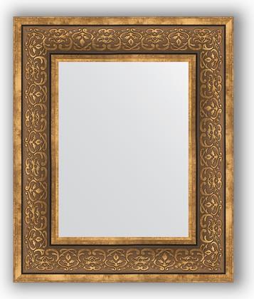 Зеркало в багетной раме 49x59см вензель бронзовый 101мм Evoform BY 3031