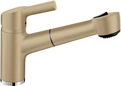 Классический кухонный однорычажный смеситель с выдвижным изливом, шампань Blanco ELIPSO-S II 514858