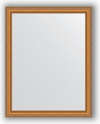 Зеркало в багетной раме 75x95см золотые бусы на бронзе 60мм Evoform BY 3266
