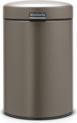 Мусорный бак настенный 3л, платина Brabantia Newicon 116223