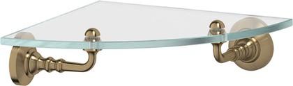 Полка для ванной угловая 3SC античная бронза, стекло STI 518