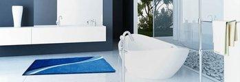 Коврик для ванной 60x100см синий Grund Luca b3742-016001247