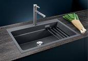 Кухонная мойка Blanco Etagon 8, отводная арматура, мускат 525195