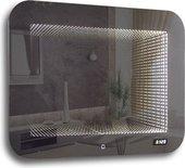 Зеркало Silver Mirrors Djet 915х685 со встроенным светильником, сенсорное, часы ФР-00002151