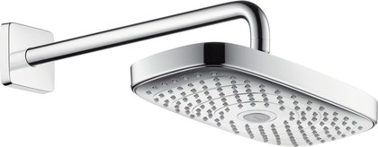 Верхний душ с держателем 390мм, хром Hansgrohe Raindance Select E 300 27385000
