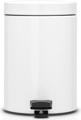 Ведро для мусора с педалью Brabantia, 5л, белый 483608
