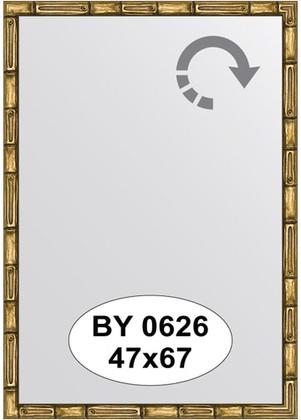 Зеркало 47x67см в багетной раме золото-бамбук Evoform BY 0626