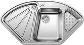 Кухонная мойка Blanco Delta-IF, клапан-автомат, полированная сталь 523667