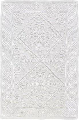 Коврик для ванной комнаты хлопковый 50x80см белый Spirella Moa 4007349